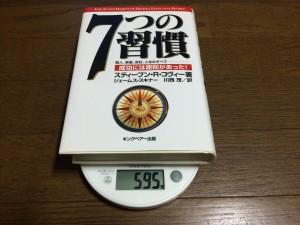 481ページのハードカバーで重さ595g